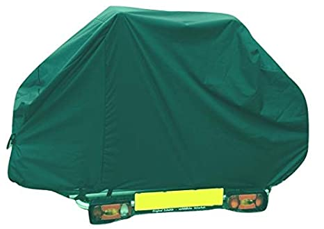 Black With Clear Pocket /& Hazard Board Frame Mounted Style Bike Racks Bags and Covers Direct Motor home//Caravan 2 Bike Cover with Webbings For Tow Ball or A