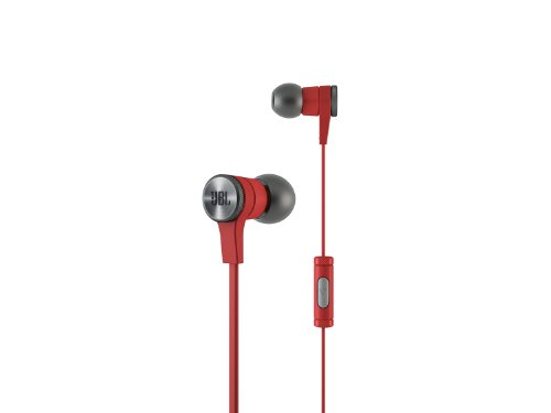 JBL E10 Red In-Ear Headphones with JBL-Quality Sound and Advanced Styling, Red