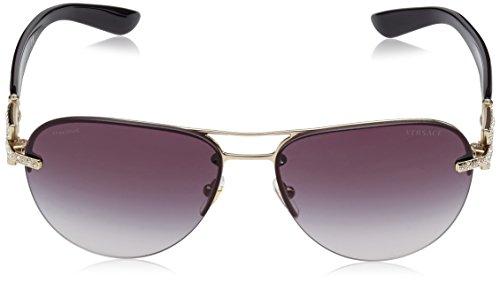 Versace 2159B Pour Silver Oro soleil Lunettes Or de Grey Femme r1qxgrtn