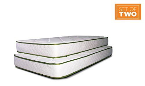 Dreamfoam Bedding Slumber Essentials Premium Foam 7-Inch Twin Mattresses, 2 ()