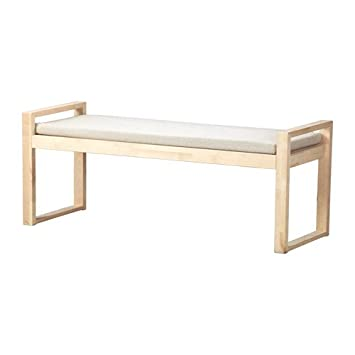 Super Amazon Com Ikea Bench With Pad Birch Risane Natural Machost Co Dining Chair Design Ideas Machostcouk