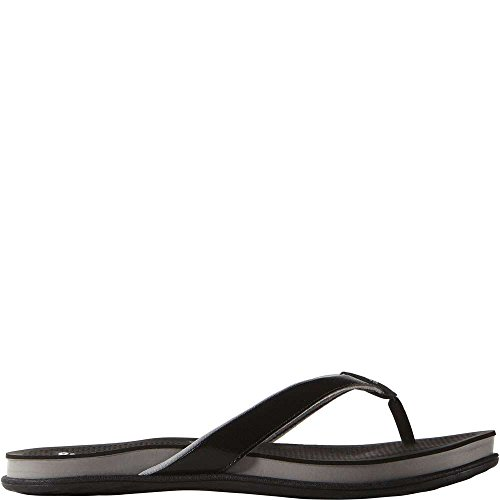 adidas Performance Women's Supercloud Plus Thong W Athletic Sandal,Black/Mid Grey/Silver,8 M (Athletic Thong Sandals)