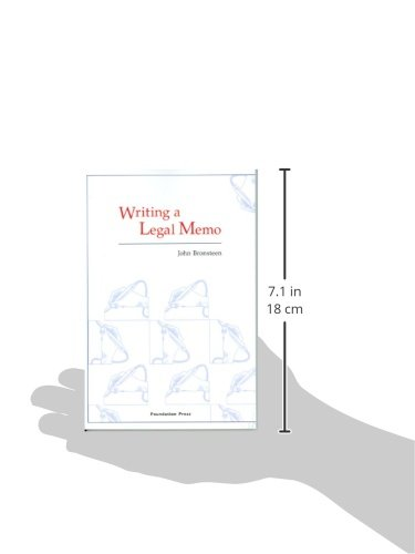 Writing a Legal Memo (Coursebook) by Brand: Foundation Press