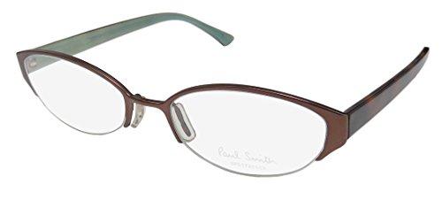 s/Ladies Cat Eye Half-rim Eyeglasses/Glasses (52-18-145, Chocolate / Tortoise) (196 Eyeglasses)
