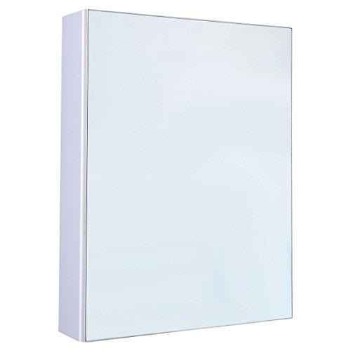 Tangkula 20″ Wide Wall Mount Mirrored Bathroom Cabinet Storage Single Door