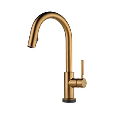 Brizo 64020LF-BZ Solna Kitchen Faucet Single Handle with Multi-Functional Pull-Down Sprayer and Smart Touch, Brushed Bronze