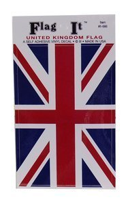 (Union Jack (British Flag) Self Adhesive Sticker 3
