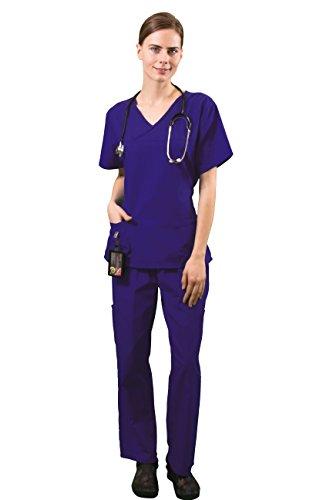 Scrub Grape (HyBrid & Company Women's Super Comfy Medical Scrubs Set SCR44804 Grape Large)