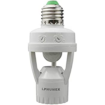 Zerodis E27 Infrared Motion Sensor Led Lamp Holder With