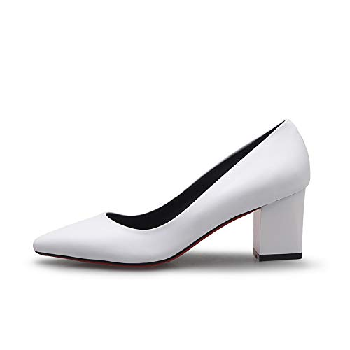 Pumps Business Solid BalaMasa Womens Urethane APL11025 White Travel Shoes wqH4aXf4x