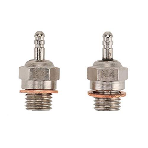 UMFun2 Pcs 70117 N4 Glow Plug Spark Plug for HSP 1/10 RC Car Part Crawler