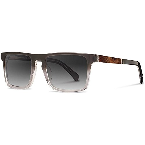 Shwood - Govy 2 Acetate, Sustainability Meets Style, Fog with Elm Burl Inlay, Grey Fade - Shwood Wooden Sunglasses