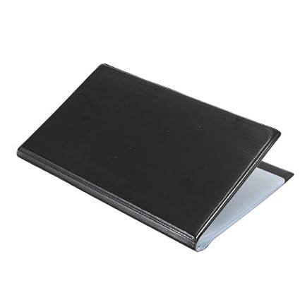 Sonline120 Tarjetas de Cuero Negro de negocios Nombre ID tarjeta de credito titular libro del organizador