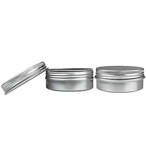 (Empty Flat Metal cosmetic Tin 2oz W/screwtop New salve, lip balm, lotion bar ... (16) )