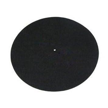 Alfombrilla Rega para tocadiscos, de fieltro, de color negro ...