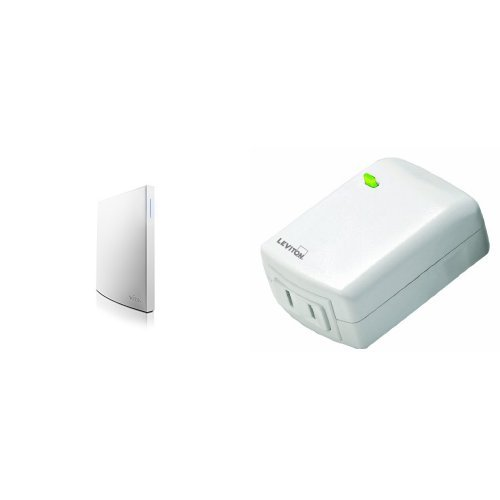 Wink Hub 2 and Leviton Plug-In Dimming Lamp Module Bundle, Works with Amazon Alexa