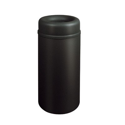 15-Gal Crowne Open Top Receptacle [Set of 3] Finish: Aluminum Top/Black Base ()