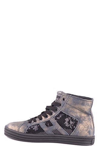 Hogan Hi Top Sneakers Donna MCBI148357O Pelle Nero/Oro