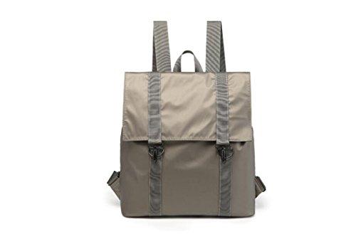 YiNan Sac à dos femelle simple léger Oxford voyage étudiant Daypack shopping sac à main Grey