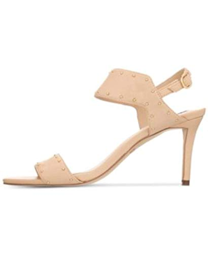 DKNY Womens Seana Leather Open Toe Casual Slingback Sandals, Nude, Size -