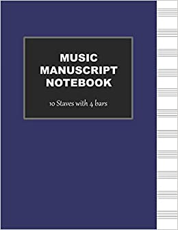 Amazoncom Manuscript Notebook 10 Stave Blank Sheet Music