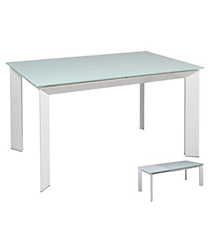 Table à Manger Extensible Blanche: Amazon.fr: Cuisine & Maison