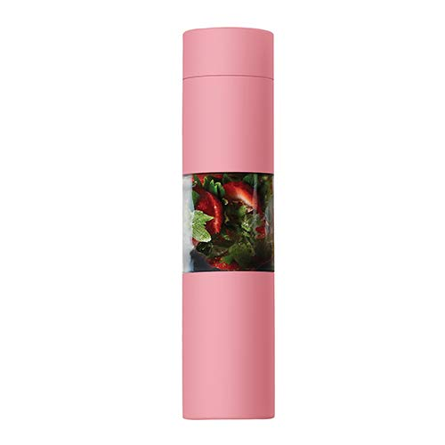 asobu Flavor U See a Stainless Steel Fruit Infuser Slim and Classy Water Bottle 16 Ounce Bpa Free (Pink)