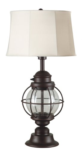 Kenroy Outdoor Lighting (Kenroy Home 037 Hatteras Outdoor Table Lamp, Gilded Copper)