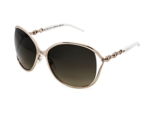 Gucci 4250/s J5ged Sunglasses Gold White / Brown Gradient Lens