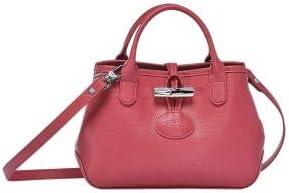 Longchamp Fig Red Roseau Leather Crossbody Pink red Bag Handbag ...