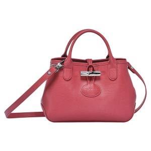 Longchamp Fig Red Roseau Leather Crossbody Pink red Bag Handbag New