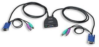 Intellinet Mini-KVM Switch 2-Port PS/2