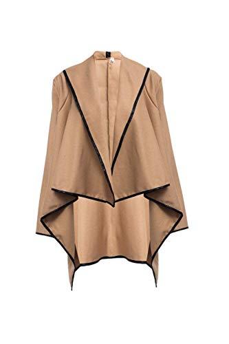 Estilo Irregularmente Asimetricas Invierno Chaquetas Outwear Termica Abrigo Khaki Mujer High Otoño Lana Elegantes Casuales Abrigos Collar Cómodo Especial Moda Chaqueta t4nvwI