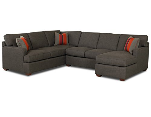 Klaussner K29000 Loomis Sectional, Charcoal