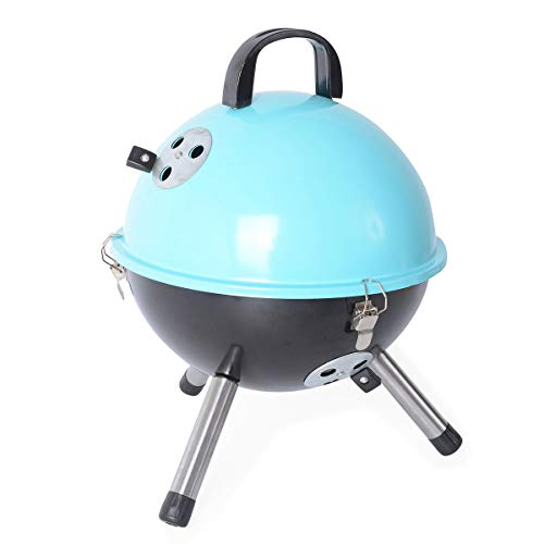 Shop LC Delivering Joy Blue Mini Portable Outdoor Charcoal Grill Stove with Chimta