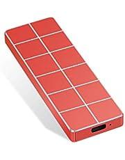 Externe harde schijf, draagbare harde schijf, externe dunne harde schijf 1TB 2TB gegevensopslag compatibel met PC, laptop en Mac (1TB Red)