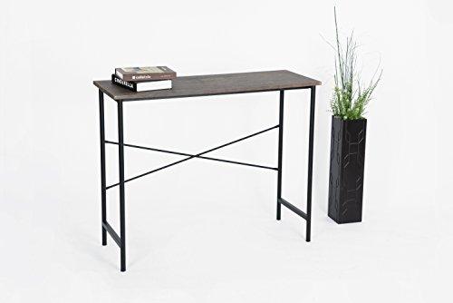 Metal Console Sofa Table (Vintage Brown / Black Metal Frame Contemporary Console Sofa Table Desk)