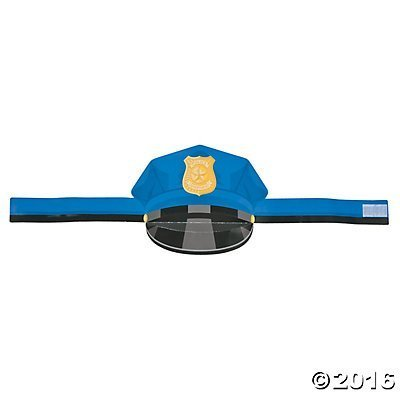 Police Department Paper Hat - 12 Pieces -