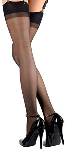 Trasparenze Sara Lustre Sheer Sheer Stockings: 20 Denier Black XL]()