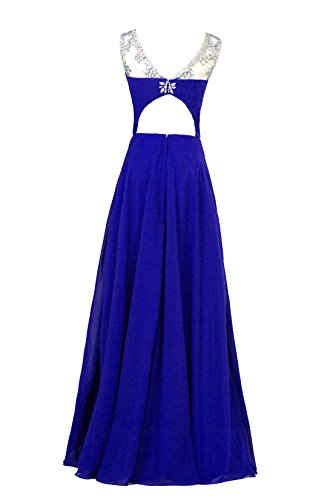Abend Ball dress49 A Line Damen Chiffon Blau 'bridesmaid Edelsteinbesetztes missydress vYBqFB