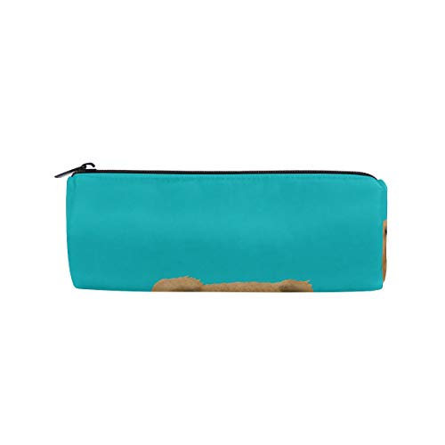 Pencil Case Chow Dog Turquoise Pen Bag- ChunBB Stationery Pouch Makeup Cosmetic Holder for School Office (Ornament Chow Christmas)