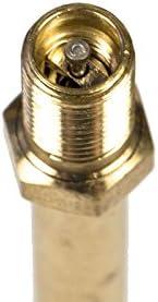 Rallonge de valve rigide - Extension pour gonflage - Pneu voiture, camion, moto, gyroroue - Laiton - 100 mm