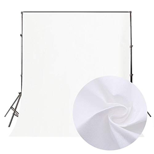 vmree Indoor Photographic Studio Backdrop, Professional Photo Shooting Background Props Wall Hanging Screen Post-Production Curtain Folding & Washable Art Cloth 5.2x6.6 FT. (White) -