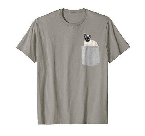 Cat in Your Pocket Siamese cat t shirt shirt ()