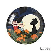 Peanuts Halloween Paper Plates Dinner Size 'Its the Great Pumpkin, Charlie Brown' -