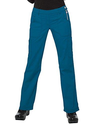 KOI Classics Women's Sara Flat Front Flared Scrub Pants XX-Large Petite (Flat Front Scrub Pants)