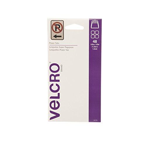 VELCRO Brand Power Tabs Clear