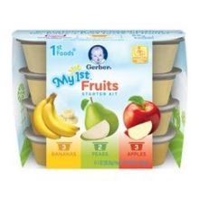 Gerber My 1st Fruits Starter Kit Baby Food, 8 Ounce - 4 per case.