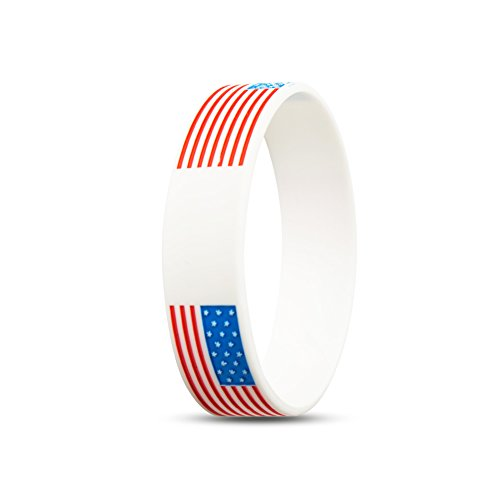 RyanLemon Silicone Wristband Select from a Variety of Colors Sport Fashion Multicolor Country Flag Unisex Bracelet (Country Flag Silicone Bracelets)