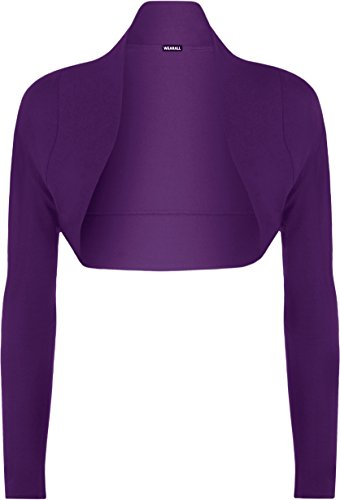 Bolero 56 Grande Taille Cardigan manches 14 Haut Pourpre WearAll Hauts longues court Tailles Femmes Ouvrir Mesdames xX6wdq5fq